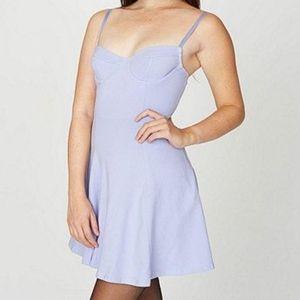 Lilac bustier skater dress
